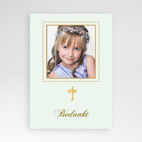 Bedankkaart communie meisje - Licht groene communie 10428 thumb