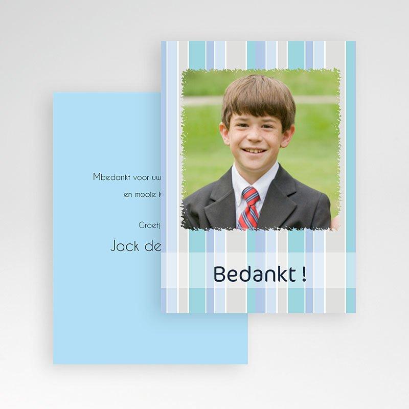 Bedankkaart communie jongen tot Hem pas cher