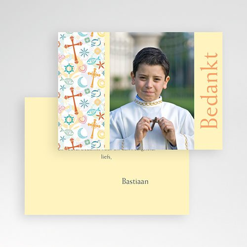 Bedankkaartjes Communie Jongen Tussen de symboliek pas cher