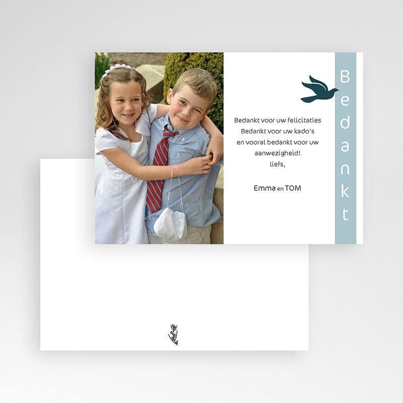 Bedankkaart communie jongen Communieviering staand pas cher