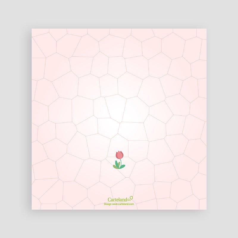 Uitnodigingen Verjaardag Meisje Roze tulp pas cher