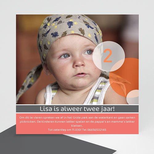 Verjaardagskaarten meisjes - Foto verjaardag met roze 10448 thumb