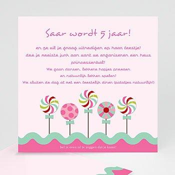Verjaardagskaarten meisjes - Roze windmolentjes - 1
