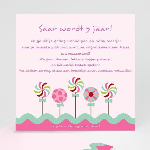 Verjaardagskaarten meisjes - Roze windmolentjes 10456 thumb