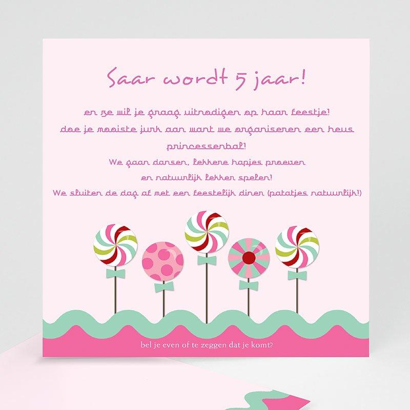 Uitnodigingen Verjaardag Meisjes Roze windmolentjes