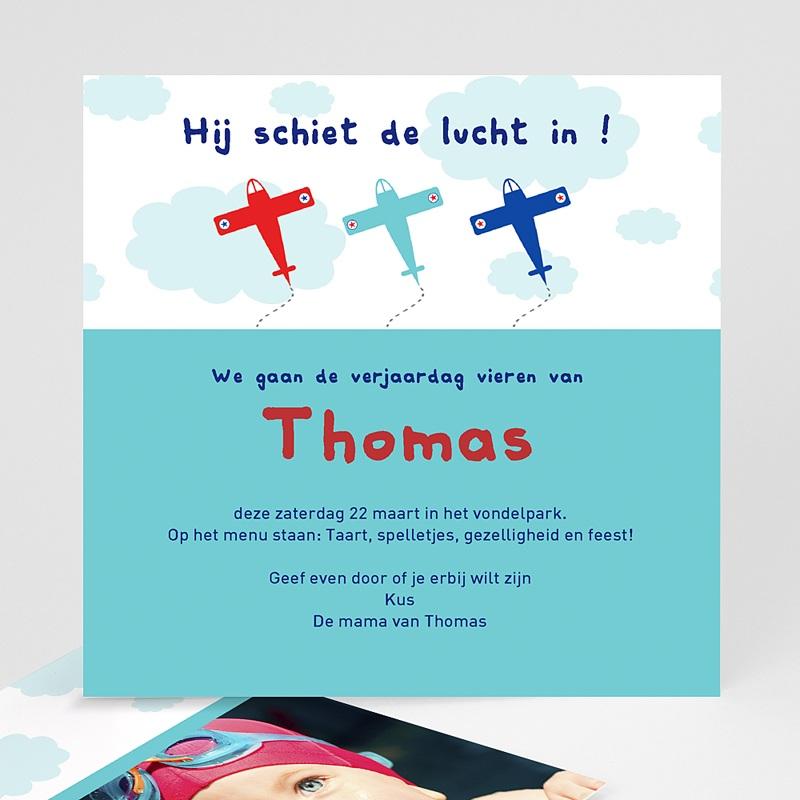 Uitnodigingen Verjaardag Jongen De lucht in