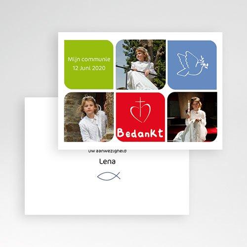 Bedankkaart communie meisje - Moderne communie 10473 thumb