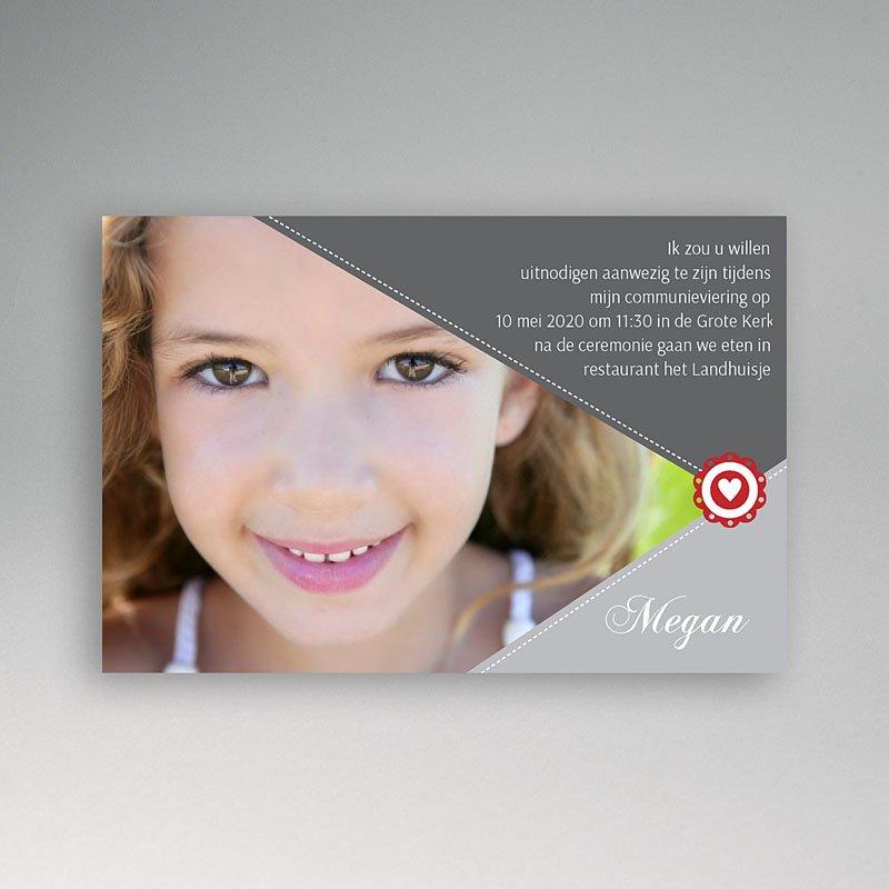 Uitnodiging communie meisje - Voor de zegel 10474 thumb