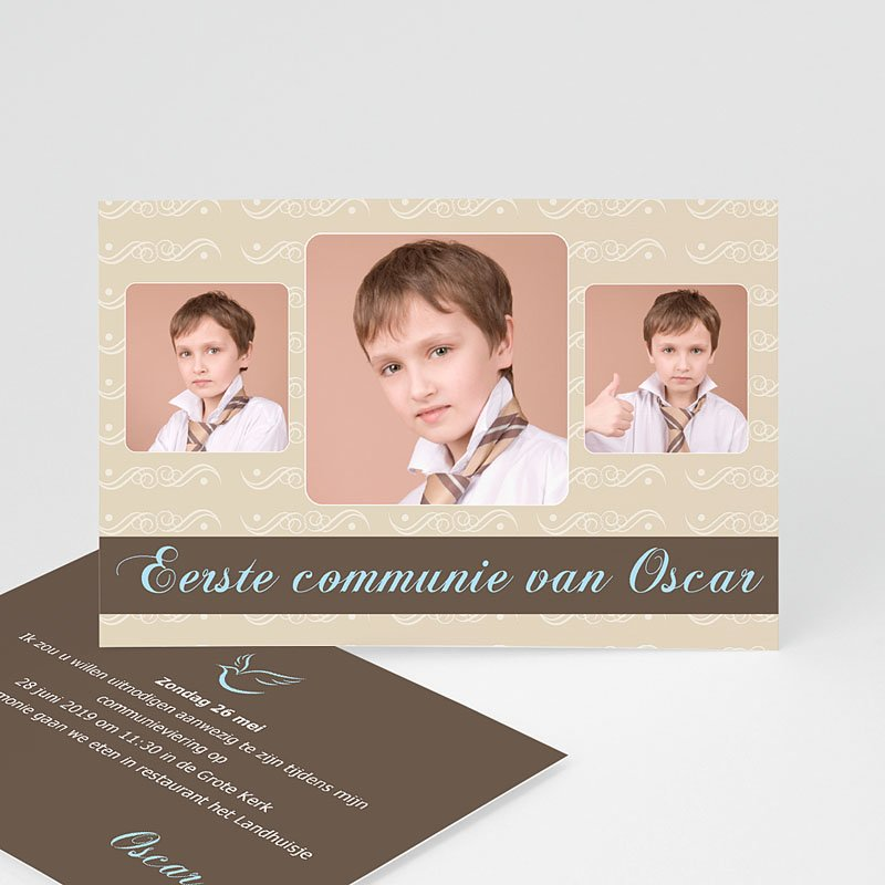 Uitnodigingen Communie Jongen Kom ook!