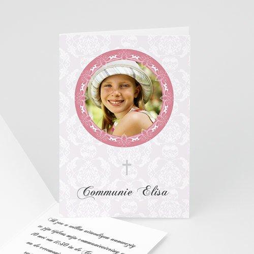 Uitnodiging communie meisje - Lief portretje 10482 thumb