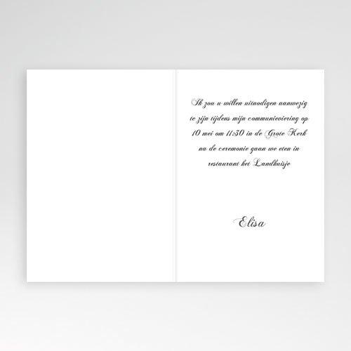 Uitnodiging communie meisje - Lief portretje 10483 thumb