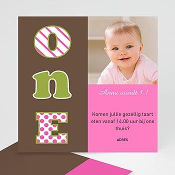 Verjaardagskaarten meisjes - Roze chocolade uitnodiging - 1
