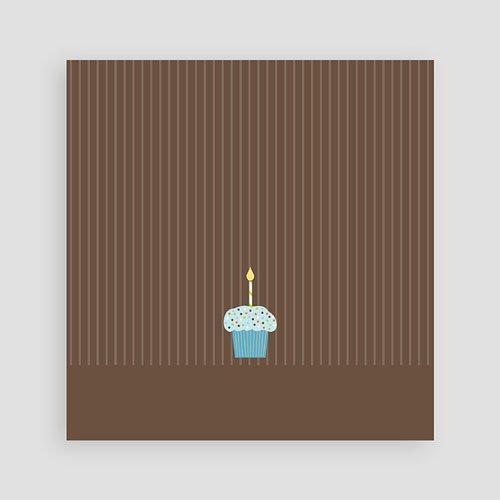 Uitnodigingen Verjaardag Jongen Chocolade met smurfmuffin pas cher