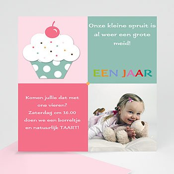 Verjaardagskaarten meisjes - Uitnodiging om op te eten - 1