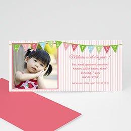Verjaardagskaarten meisjes Vlaggetjes voor meisje