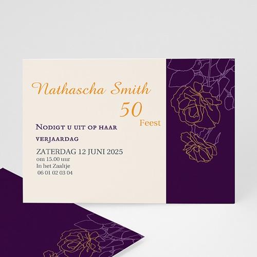 Meerderjarig Uitnodigingen Verjaardag Paarse rozen