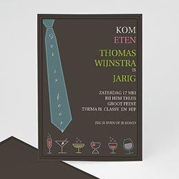 Uitnodiging Anniversaire adulte Borrel met stropdas