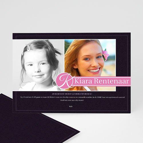 Verjaardagskaarten volwassenen - Roze lilla 10592 thumb