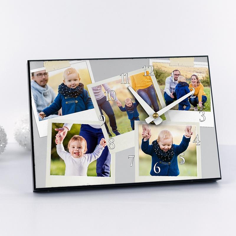 Gepersonaliseerde Fotoklok Eerste polaroids