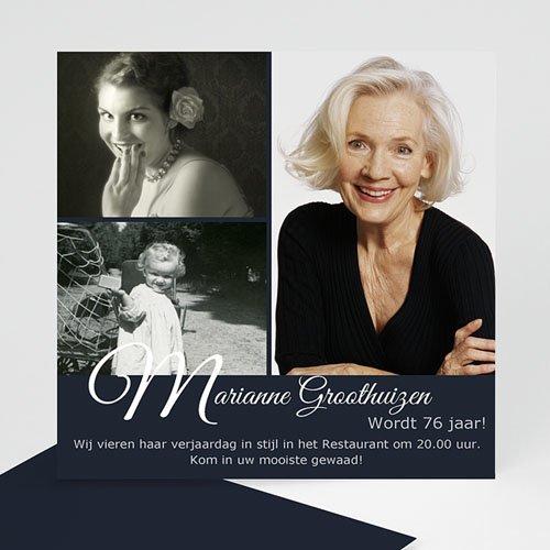 Verjaardagskaarten volwassenen - Elegante uitnodiging 10633 thumb