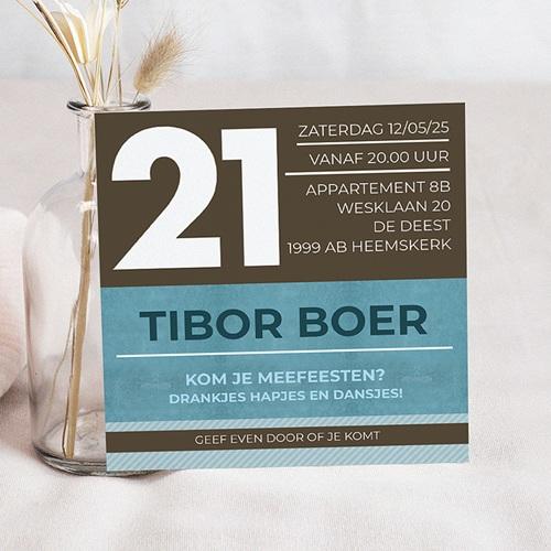 Meerderjarig Uitnodigingen Verjaardag Moderne uitnodiging