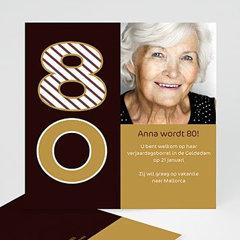 Verjaardagskaarten volwassenen - Van harte, 80 jarige - 1