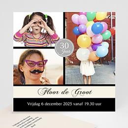 Uitnodiging Anniversaire adulte Verjaardagskaart in stijl