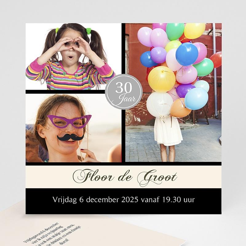 Meerderjarig Uitnodigingen Verjaardag Verjaardagskaart in stijl