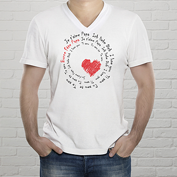 T-shirt met foto - Body met opdruk, love - 1