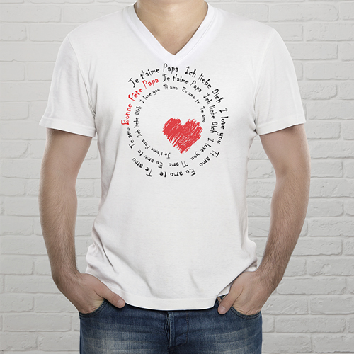 T-shirt met foto Body met opdruk, love