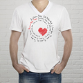 T-shirt met foto - Body met opdruk, love 10676 thumb