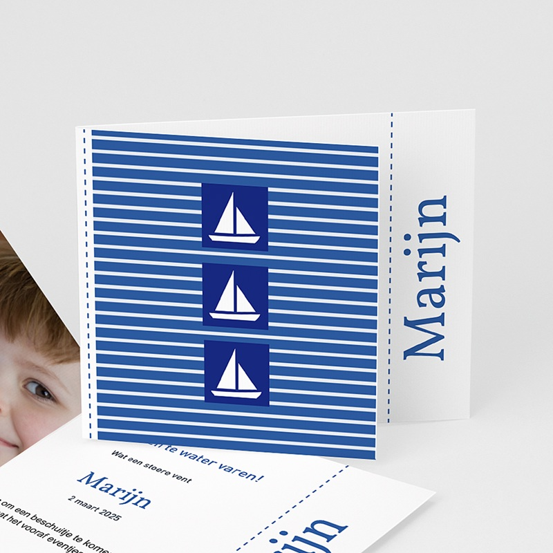 Geboortekaartjes Jongen Maritiem, blauw