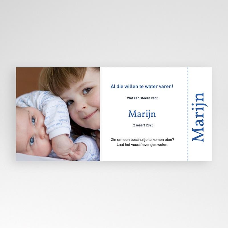 Geboortekaartjes Jongen Maritiem, blauw pas cher