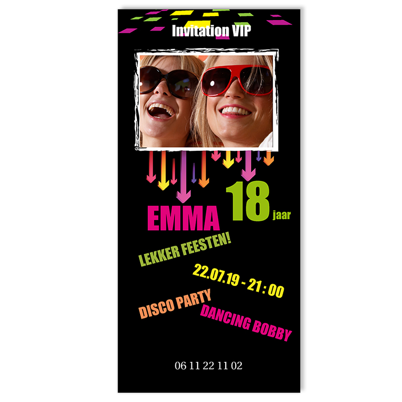 Verjaardagskaarten volwassenen - Flitsende VIP uitnodiging 10687 thumb