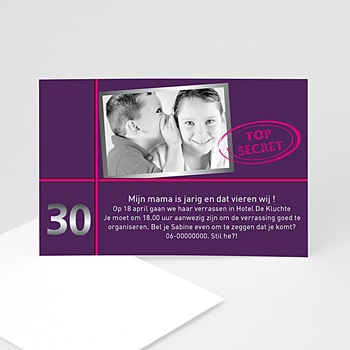 Verjaardagskaarten volwassenen - Vertel het door - 1