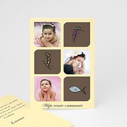 Uitnodiging communie meisje Foto's en symbolen