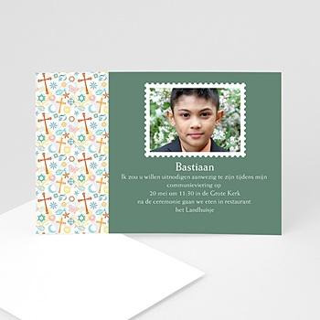 Uitnodiging communie jongen - Tussen de symboliek - 1