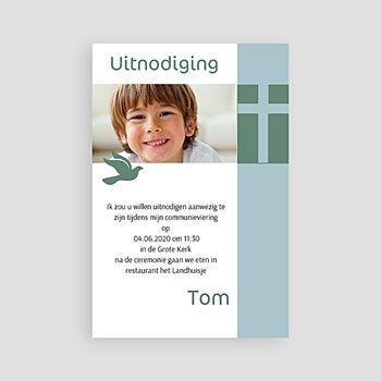 Uitnodiging communie jongen - Communieviering staand - 1
