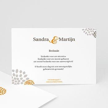 Bedankkaartjes huwelijk - Aan elkaar - 1