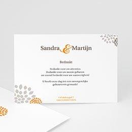 Bedankkaartjes huwelijk Aan elkaar