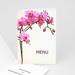 Personaliseerbare menukaarten huwelijk Roze orchidee