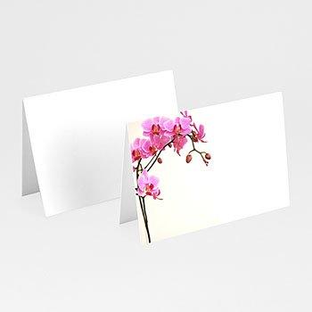 Personaliseerbare plaatskaartjes huwelijk - Roze orchidee - 1