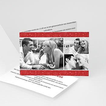 Trouwkaarten met foto - Uitzicht in rood - 1