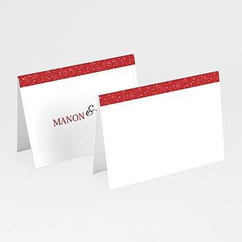 Personaliseerbare plaatskaartjes huwelijk - Uitzicht in rood - 1