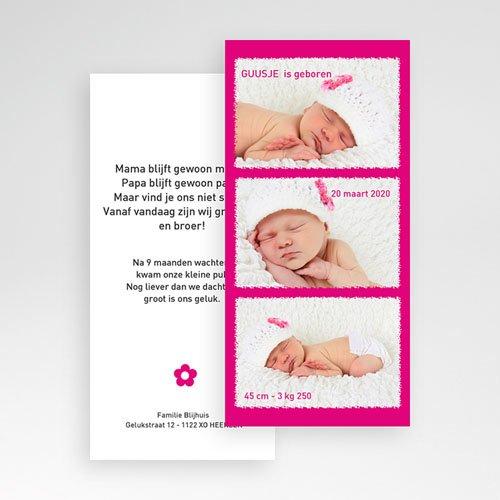 Geboortekaartje meisje Roze torentje pas cher