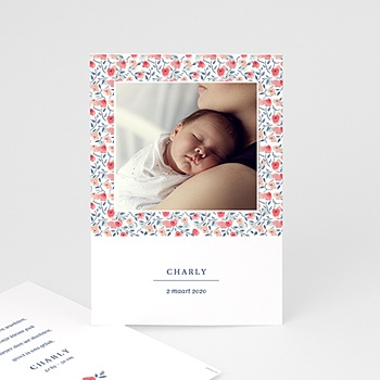 Geboortekaartje meisje - Knoopje in de zakdoek - 1