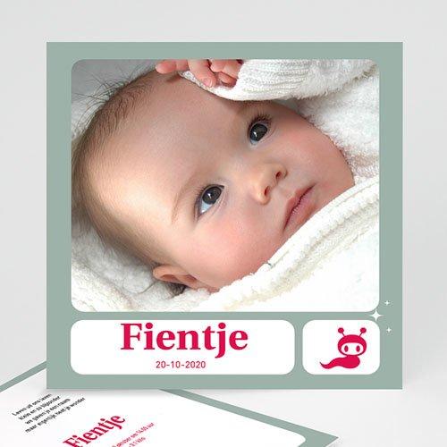 Geboortekaartje meisje - Vierkant de beste 10787 thumb