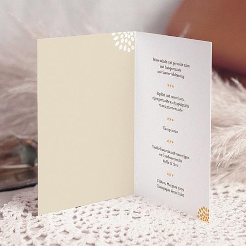 Personaliseerbare menukaarten huwelijk Aan elkaar pas cher