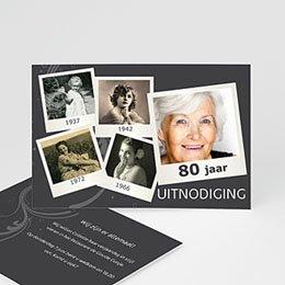 Verjaardagskaarten volwassenen Polaroids van toen en nu