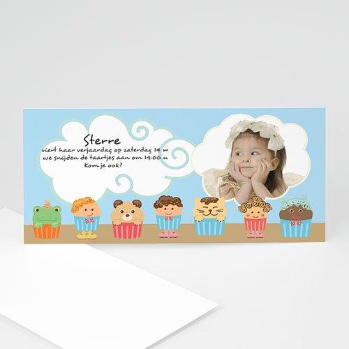 Verjaardagskaarten meisjes - Muffins en cupcakes, blauw 10825 thumb